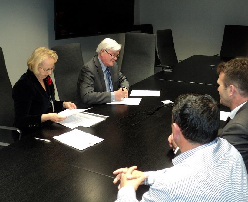 MoC signing THL by Director General Juhani Eskola